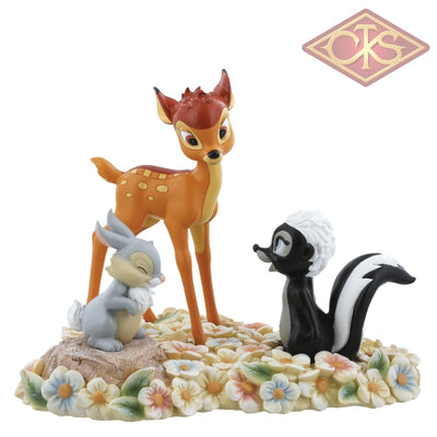Enesco - Disney Enchanting Collection - Resin Figure Bambi, Thumper & Flower (Pretty Flower)