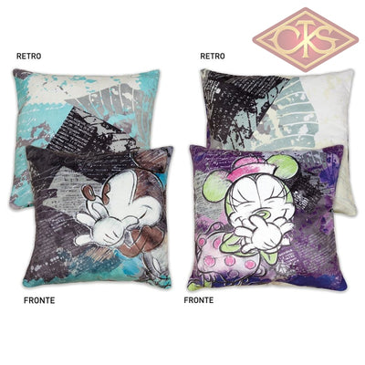 Disney - Mickey & Minnie Cushions Purple / Turquoise (Set Of 2) Mug