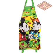 Disney - Mickey & Minnie Green Kitchen Apron Sweet Love
