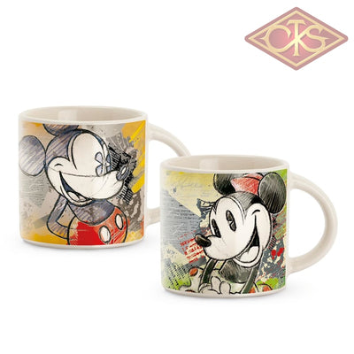 Disney - Mickey & Minnie Mini Mug Green / Red (Set Of 2)