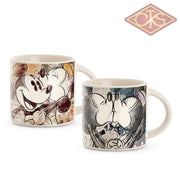 Disney - Mickey & Minnie Mini Mug Orange / Ivory (Set Of 2)