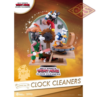Disney - Mickey Mouse Diorama Clock Cleaners (Ds-046) (15 Cm) Figurines