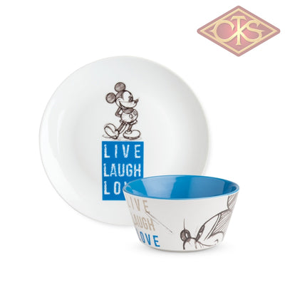 Disney - Minnie Mouse Set Desert Blue:  Plate + Bowl In Gift Box