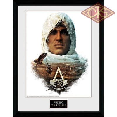 Framed Poster - Assassins Creed Origins Head (30 X 40 Cm) Posters