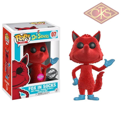 Funko Pop! Books - Dr. Seuss Fox In Socks (Flocked) (07) Exclusive Figurines