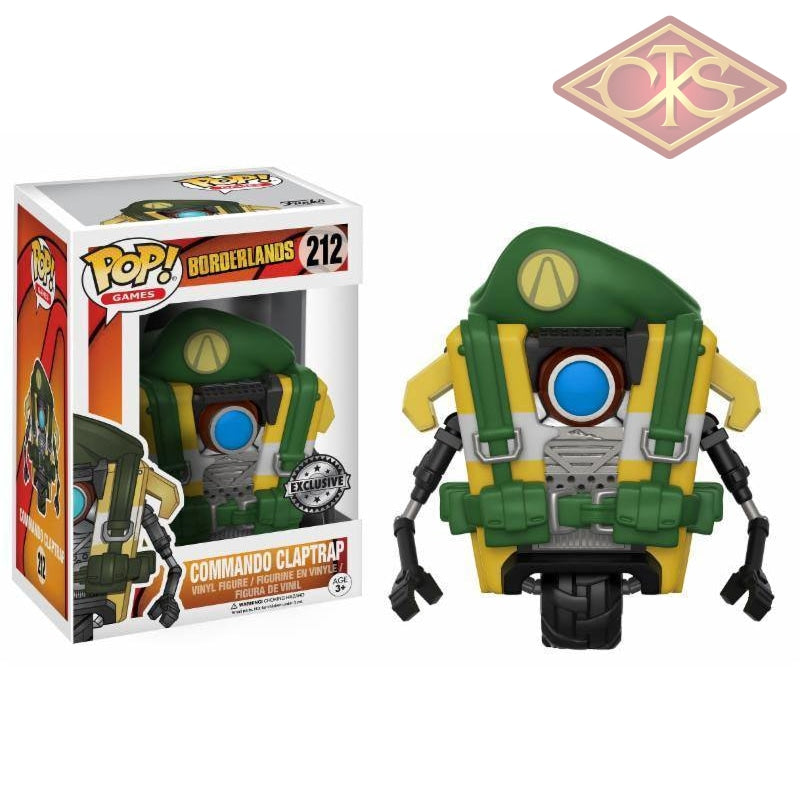 Funko Pop! Games - Borderlands Commando Claptrap (212) Exclusive Figurines