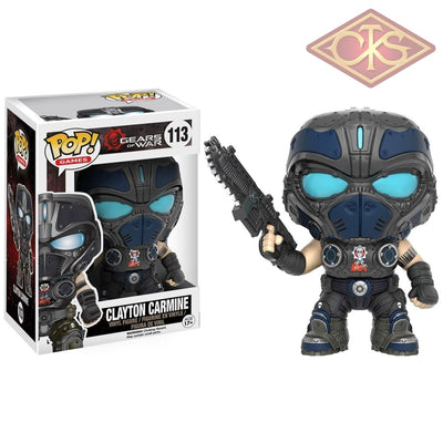 Funko Pop! Games - Gears Of War Clayton Carmine (113) Figurines
