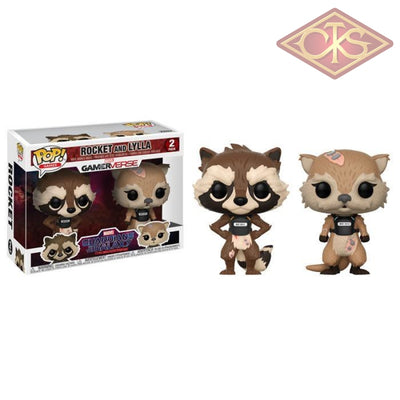 Funko Pop! Games - Guardians Of The Galaxy The Telltale Series Rocket & Lylla (2Pack) Figurines