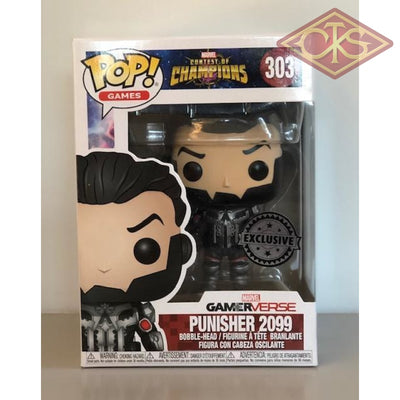 Funko Pop! Games - Marvel Contest Of Champions Punisher 2099 (303) Damaged Packaging Figurines