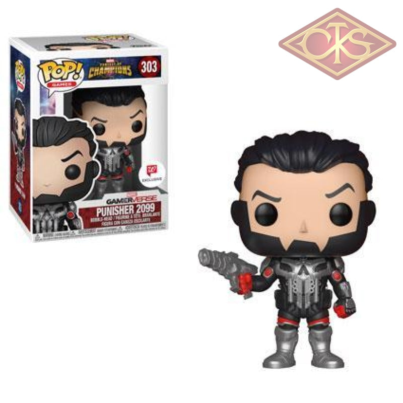 Funko Pop! Games - Marvel Contest Of Champions Punisher 2099 (303) Exclusive Figurines