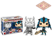 Funko Pop! Games - Marvel Vs Capcom Infinite Black Panther (White) Monster Hunter (Blue) (2Pack)