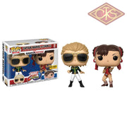 Funko Pop! Games - Marvel Vs Capcom Infinite Captain Chun-Li (2Pack) Exclusive Figurines