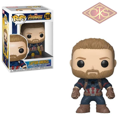 Funko Pop! Marvel - Avengers, Infinity War - Vinyl Figure Captain America (288) Bobble-Head