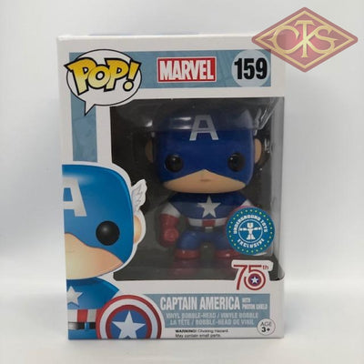 Funko Pop! Marvel - Captain America (W/ Photon Shield) (159) Damaged Packaging Figurines