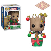 Funko Pop! Marvel - Holiday Groot With Lights & Ornaments (399) Figurines