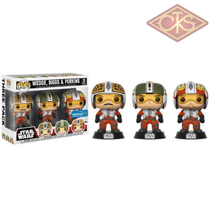 Funko Pop! Star Wars - Biggs Wedge & Porkins (3 Pack) Exclusive Figurines