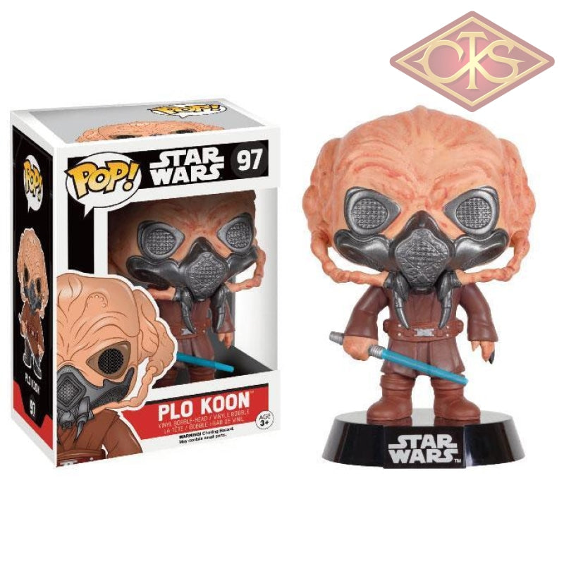 Funko Pop! Star Wars - Bobble-Head Plo Koon (Exclusive) (97) Figurines