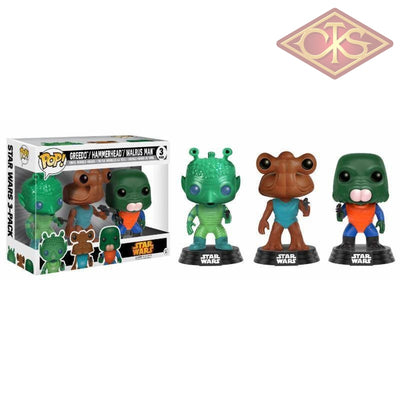 Funko Pop! Star Wars - Greedo / Hammerhead Walrus Man (3 Pack) Exclusive Figurines