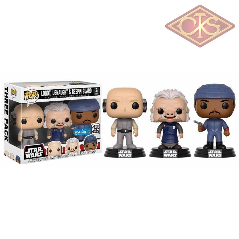Funko Pop! Star Wars - Lobot Ugnaught & Bespin Guard (3 Pack) Exclusive Figurines
