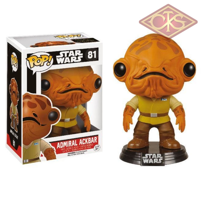 Funko Pop! Star Wars - The Force Awakens Admiral Ackbar (81) Figurines