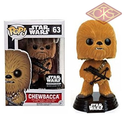 Funko Pop! Star Wars - The Force Awakens Chewbacca (Flocked) (63) Exclusive Figurines