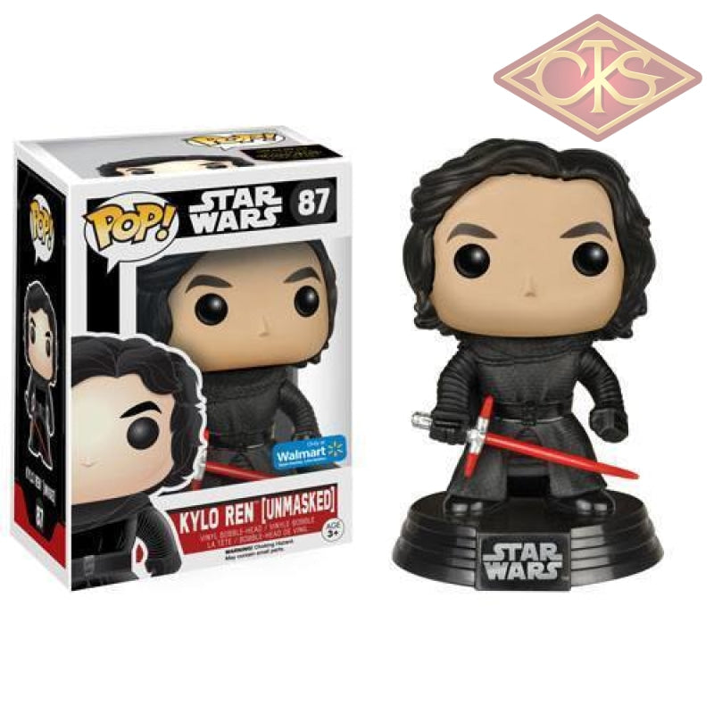 Funko Pop! Star Wars - The Force Awakens Kylo Ren (Unmasked) (87) Exclusive Figurines