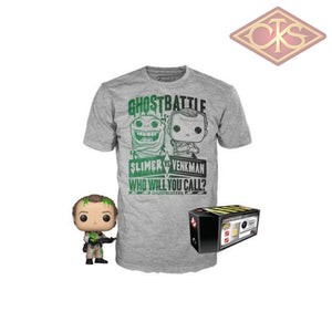 Funko POP! Tees - Ghostbusters - Dr. Peter Venkman (Slimed) (2019 Design) + T-Shirt (744) Exclusive