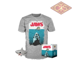 Funko Pop! Tees - Jaws Great White Shark (Bloody) + T-Shirt (758) Exclusive Figurines