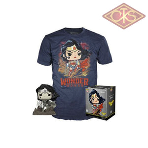Funko POP! Tees - Wonder Woman - Wonder Woman (B/W) (Jim Lee Deluxe) + T-Shirt (282) Exclusive