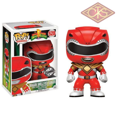 Funko Pop! Television - Mighty Morphin Power Rangers Dragon Shield Red Ranger (Exclusive) (528)