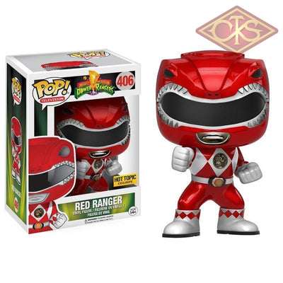 Funko Pop! Television - Mighty Morphin Power Rangers Red Ranger (Metallic) (406) Figurines