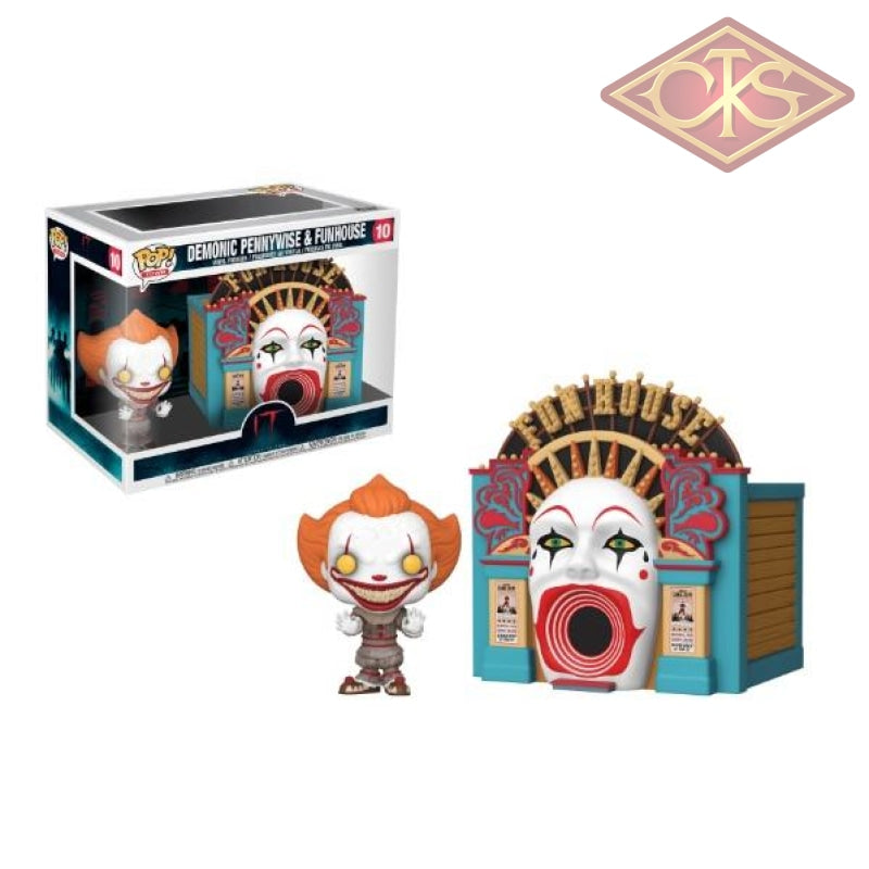 Funko Pop! Town - It Chapter Two Demonic Pennywise & Funhouse (10) Figurines