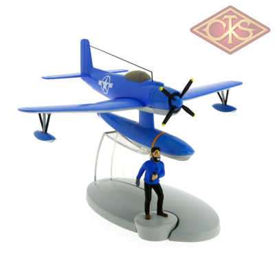 Moulinsart - Tintin / Kuifje Blue Seaplane & Captain Haddock Figurines
