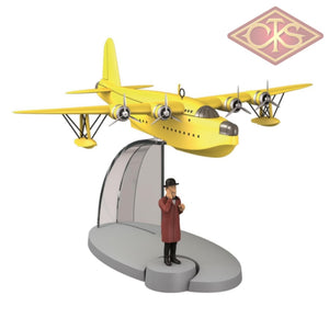 Moulinsart - Tintin / Kuifje Transport Yellow Seaplane & Nestor Figurines
