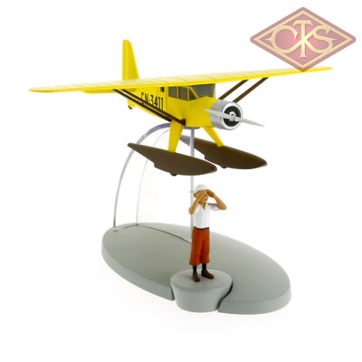 Moulinsart - Tintin / Kuifje Yellow Seaplane & Figurines