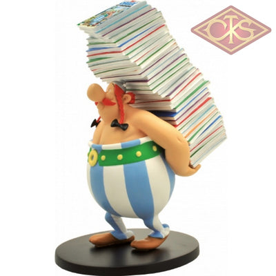 Plastoy - Asterix Obelix Stack Of Comic Books Figurines