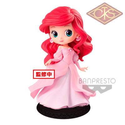 Q Posket Characters - Disney The Little Mermaid Ariel (Pink Dress) Figurines