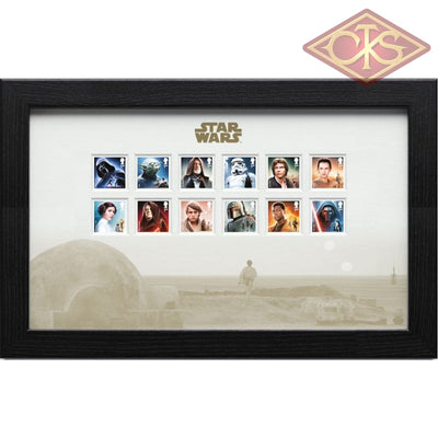 Star Wars - Framed Stamps Characters (43 X 27 Cm)