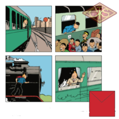 Tintin / Kuifje - Postcards Les Trains Treinen (Set Of 8 Cards)