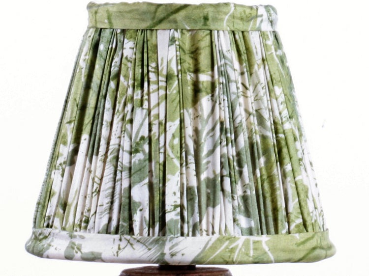 Green And Cream Silk Lampshade