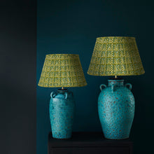 Load image into Gallery viewer, Keith Lamp and Green Blue Chevron lampshade
