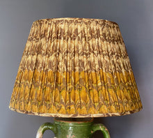 Load image into Gallery viewer, Mustard Silk Saree Lampshade