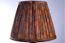 Load image into Gallery viewer, Burnt orange and cobalt silk saree lampshade