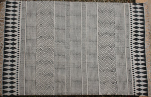 Block printed Cotton rug