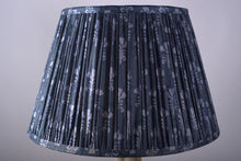Load image into Gallery viewer, Denim blue Tussar silk lampshade