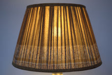 Load image into Gallery viewer, Old gold and sienna silk lampshade