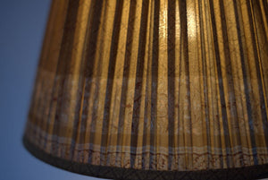 Old gold and sienna silk lampshade