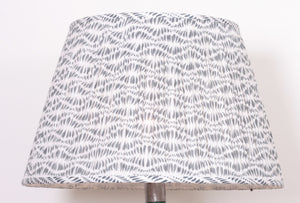 Grey and White Cotton Lampshade