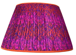 Giant Baobab Lamp and Hot Pink Paisley Silk Lampshade