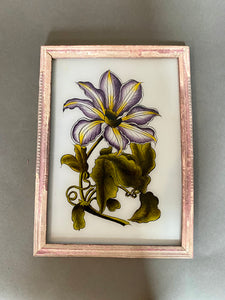 Indian Lily Medium Glass Painting